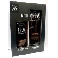 """American Crew Подарочный набор """"Daily duo"""" (Увлажняющий шампунь и гель сильной фиксации), 2 средства. -"""